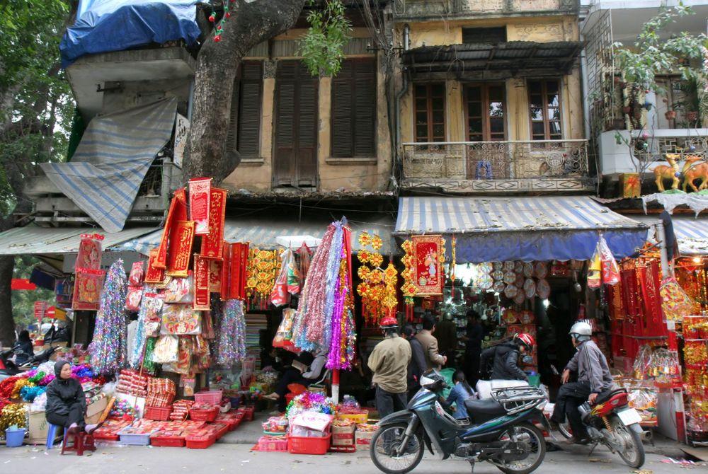 De Old Quarter in Hanoi