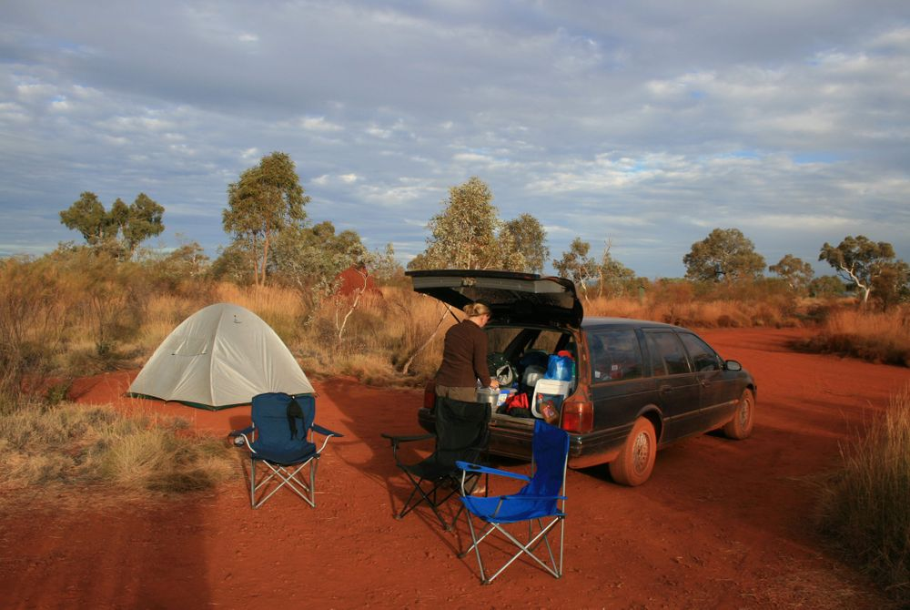 Devils Marbles camping