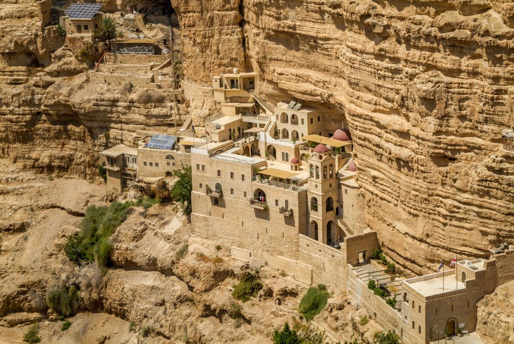 Het Sint Jorisklooster in de Wadi Qelt