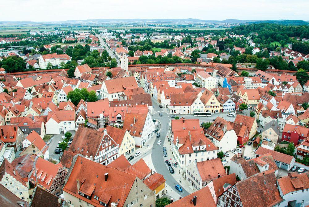 Nördlingen: Duitse stad gebouwd in een krater