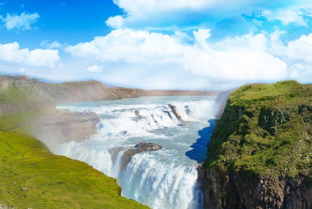 Gullfoss, een van de mooiste watervallen op IJsland