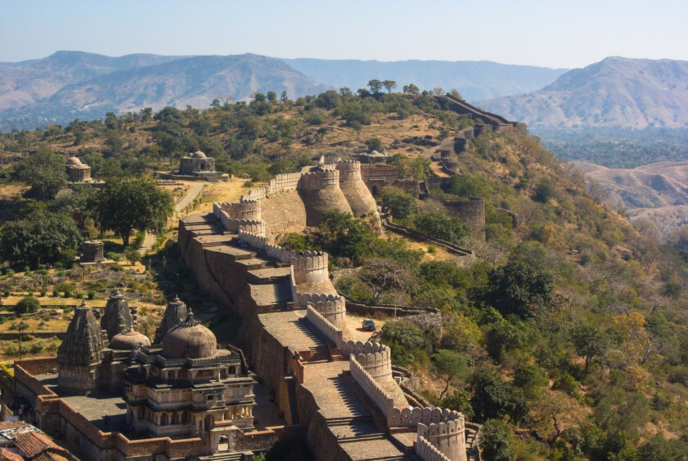Het Kumbhalgarh Fort in Rajasthan