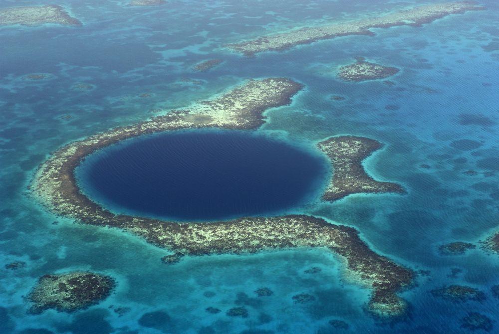 De Great Blue Hole in Belize