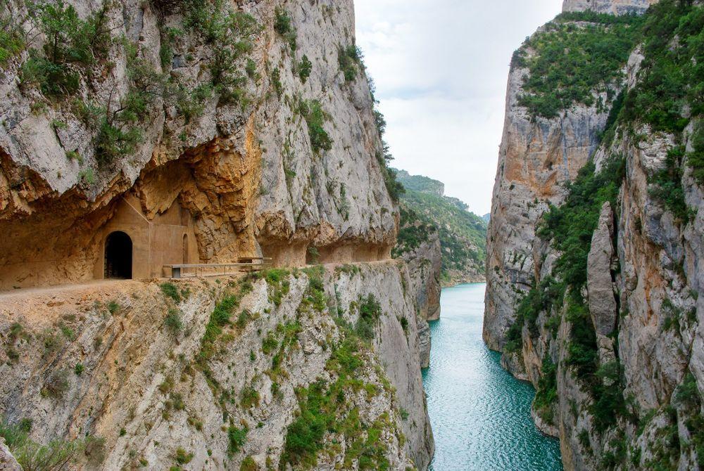 De Congost de Mont-rebei kloof in Spanje