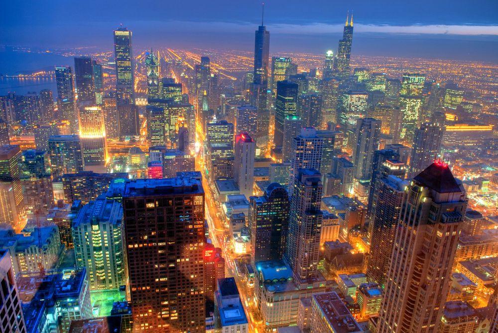 VIDEO: Chicago in de nacht