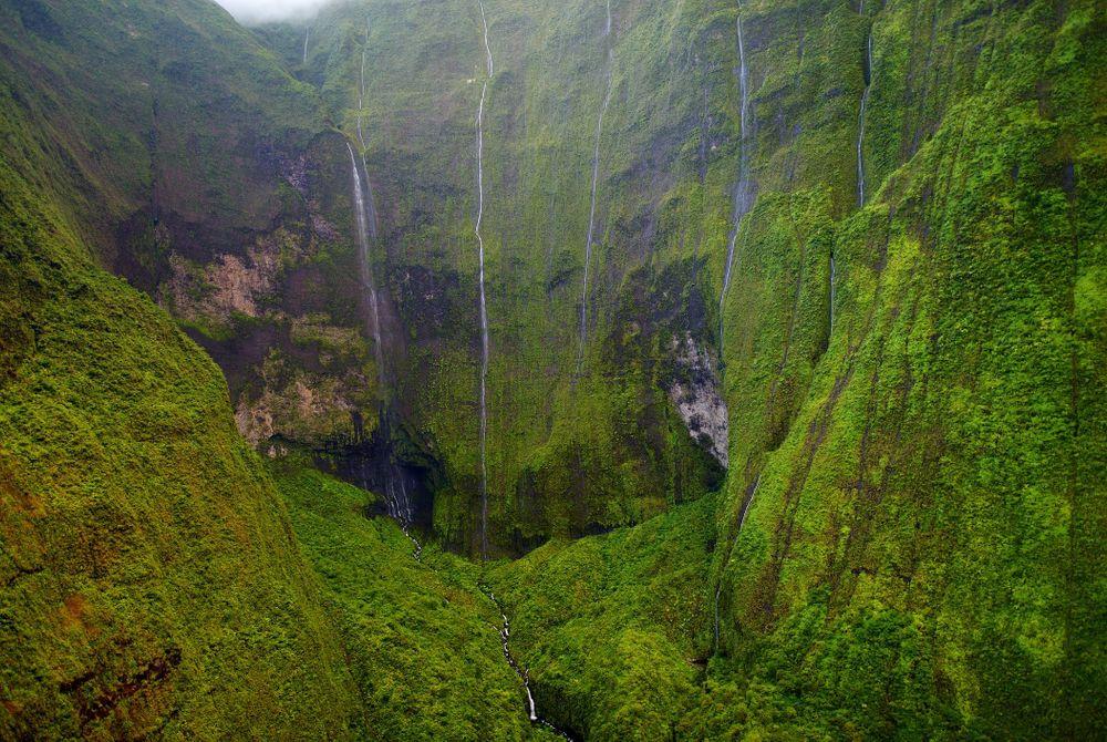 Oase van watervallen: Hawaï's 'Weeping Wall'