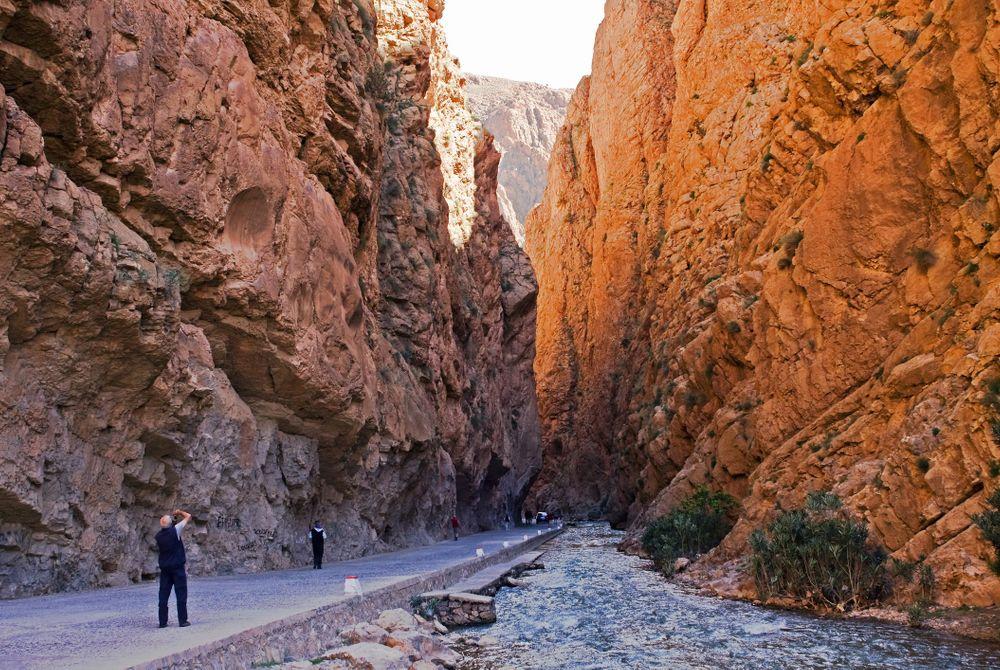 De Todra Gorge in Marokko