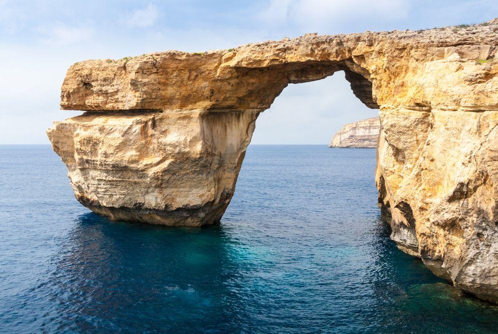 De Blue Hole en Azure Window op Gozo (Malta)