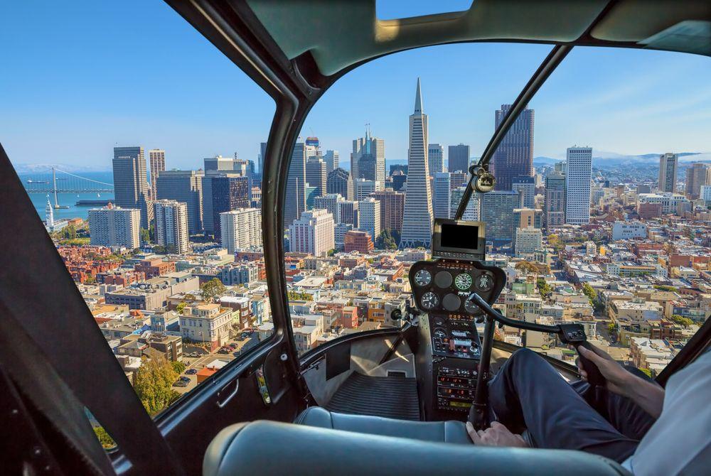 Geweldig: Een helicopter vlucht boven San Francisco ziet er zó uit