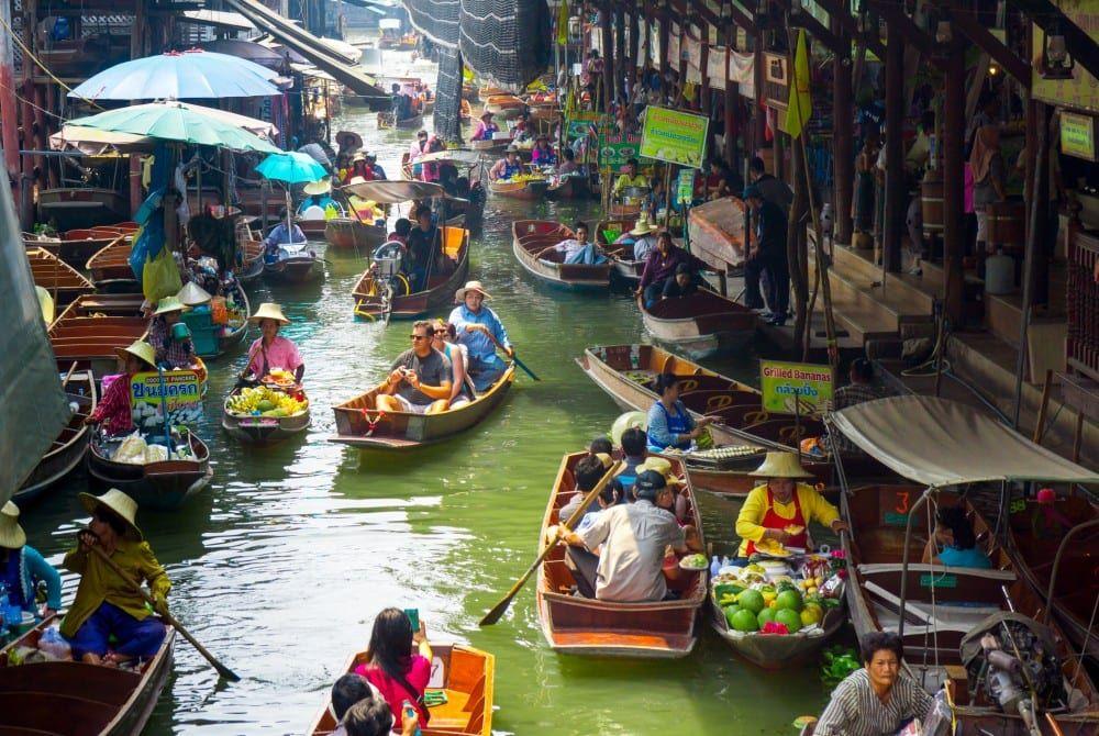 Damnoen Saduak: Dé Floating Market bij Bangkok