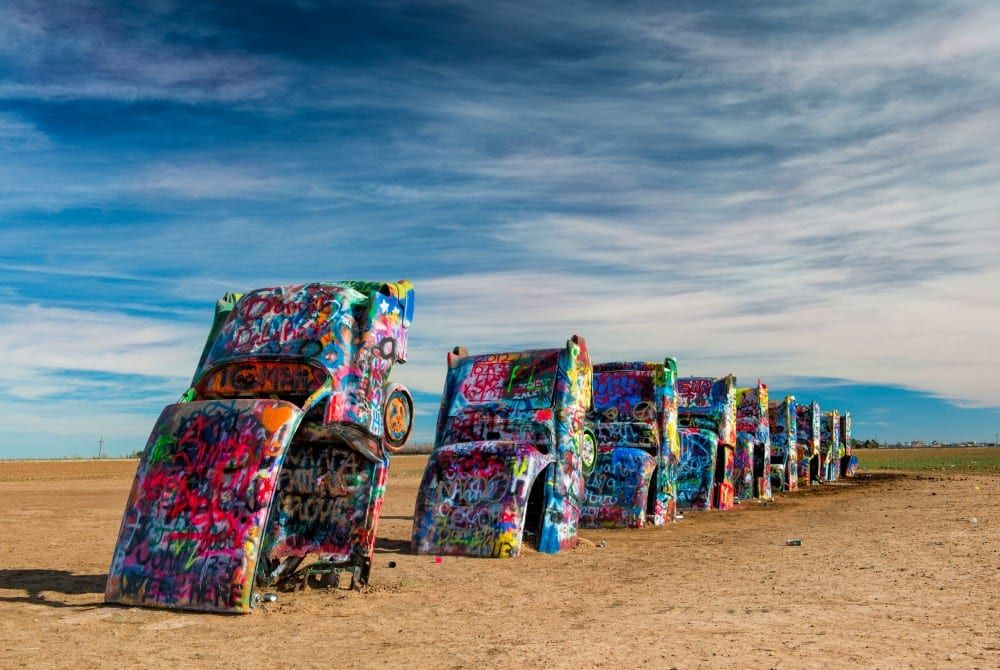 Must-see op de Route 66: Cadillac Ranch