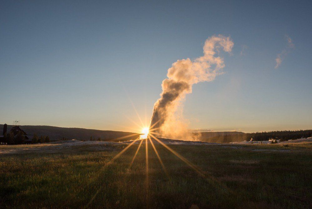Old Faithful: Must-see geiser in het Yellowstone National Park