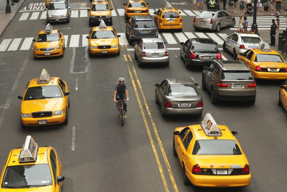 New York op een tweewieler