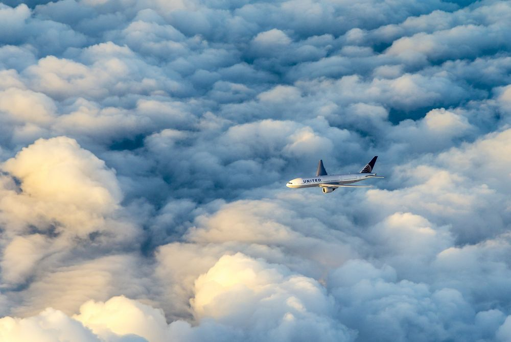 Toiletpapier op tijdens vlucht United Airlines